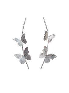 cerce argintii in forma de fluturi prelucrati manual