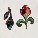 Brosa Naturalia Boboc din metal, email, rasina si sticla de Murano_140 lei