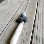 Pandantiv Summer Feel din arici de mare cu insertii, metal, ceramica glazurata si perla de cultura